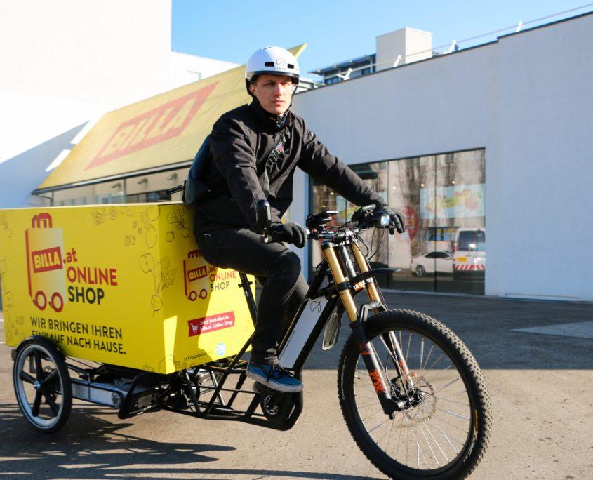 Citylogistik mit Elektromobilität Billa