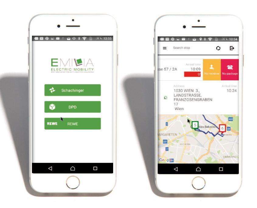 Citylogistik mit Elektromobilität Routing-App